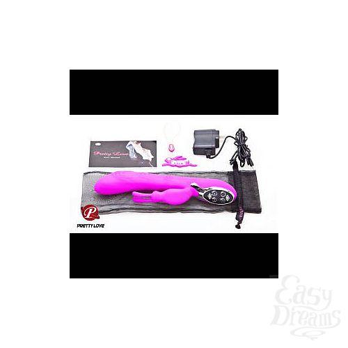 Фотография 3  Пурпурный перезаряжаемый вибратор Pretty Love Smart - 24 см.