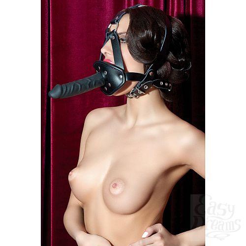 Фотография 2  Кляп на сбруе с чёрным фаллосом