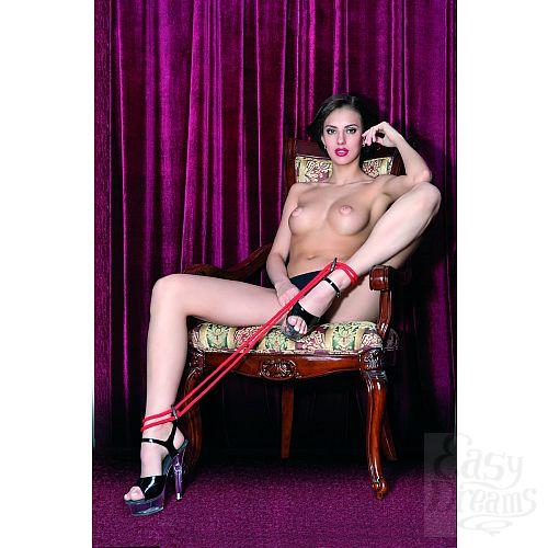 Фотография 3  Красные верёвочные оковы на ноги