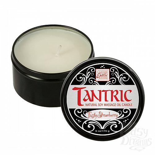 Фотография 1:  Массажная свеча Tantric Soy Candle - Tasty Strawberry