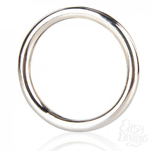 Фотография 2  Стальное эрекционное кольцо STEEL COCK RING - 4.8 см.