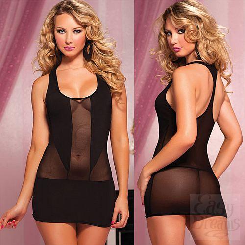 Фотография 1:  Короткое полупрозрачное платье
