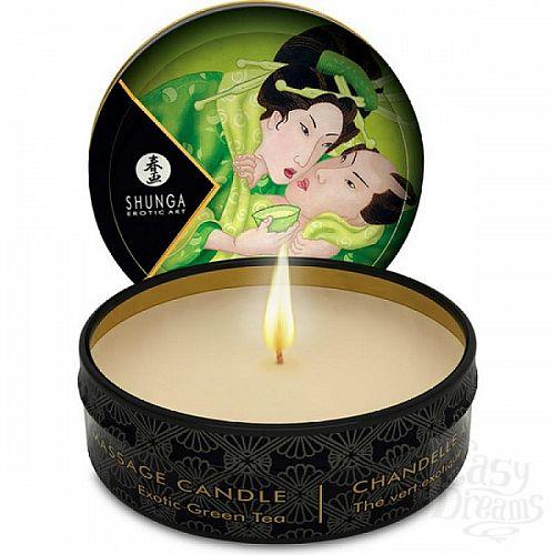 Фотография 1:  Массажная свеча Exotic Green Tea с ароматом зелёного чая - 30 мл.