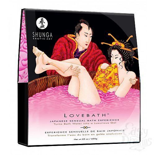 Фотография 1:  Соль для ванны Lovebath Dragon Fruit, превращающая воду в гель - 650 гр.
