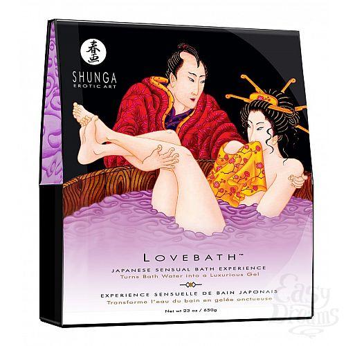 Фотография 1:  Соль для ванны Lovebath Sensual lotus, превращающая воду в гель - 650 гр.