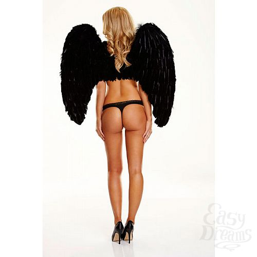 Фотография 2  Большие крылья из натуральных перьев DARK DELIGHT