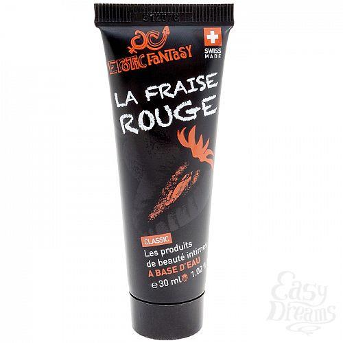 Фотография 1:  Лубрикант со вкусом клубники Erotic Fantasy La Fraise Rouge - 30 мл.