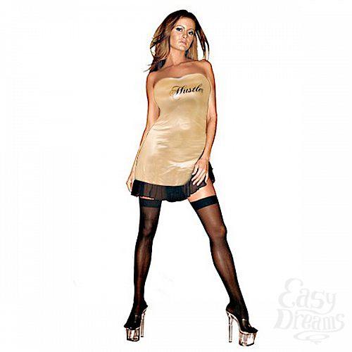 Фотография 2  Клубное платье с надписью HUSTLER на груди