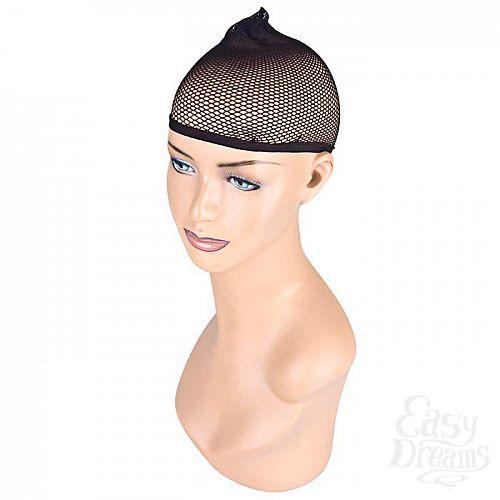 Фотография 1:  Черная сетка для волос под парик