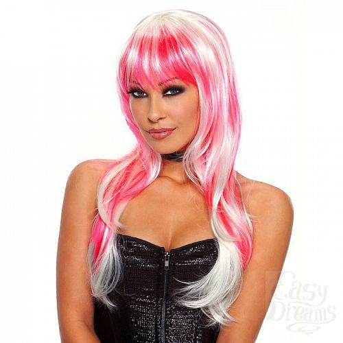 Фотография 1:  Бело-розовый парик Candy