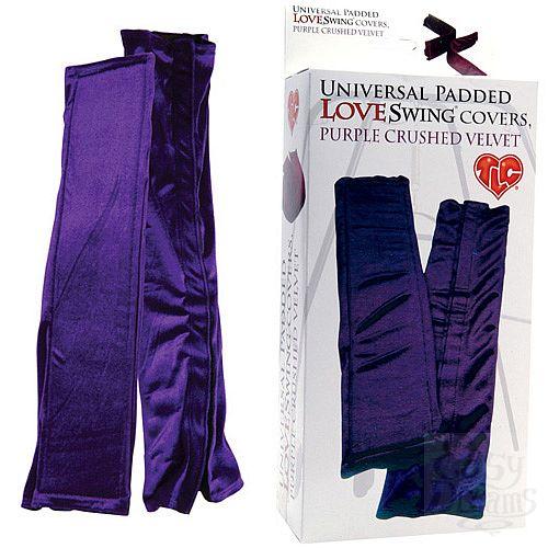 Фотография 1:  Бархатистые фиолетовые чехлы для любовных качелей