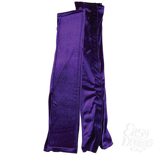 Фотография 2  Бархатистые фиолетовые чехлы для любовных качелей