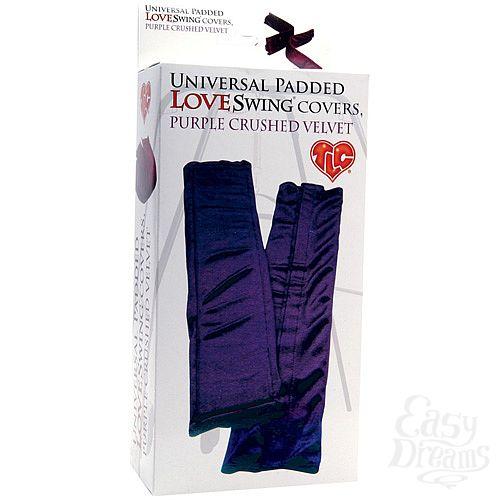 Фотография 3  Бархатистые фиолетовые чехлы для любовных качелей