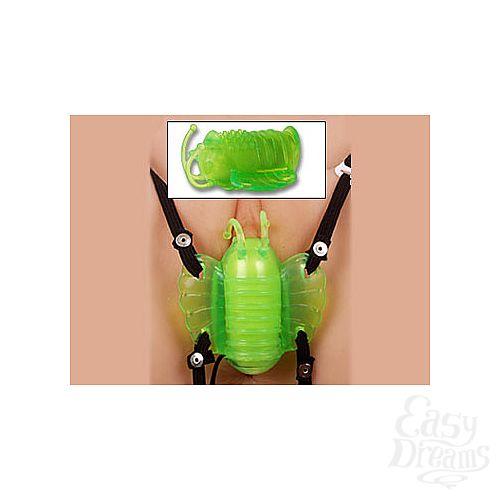 Фотография 1:  Зеленая бабочка для клитора из силикона