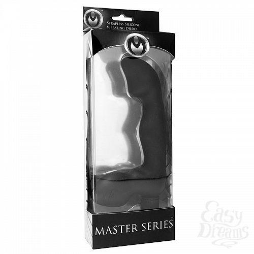 Фотография 4  Безремневой черный страпон со стимуляцией G-точки Karma Strapless G-Spot Vibe - 16.5 см.