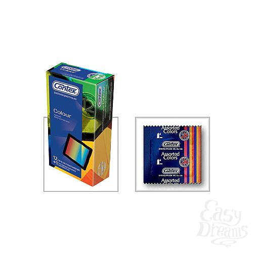 Фотография 1:  Презервативы CONTEX Colour, 12 шт.
