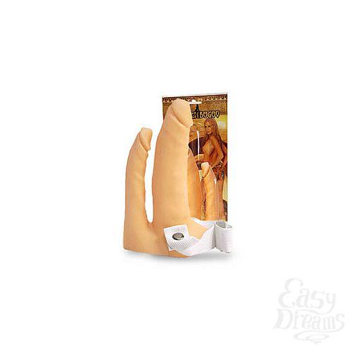 Фотография 1:  Анально-вагинальный фаллопротез  8 (на резинке)