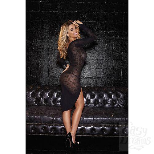 Фотография 2  Кружевное платье с овальным вырезом