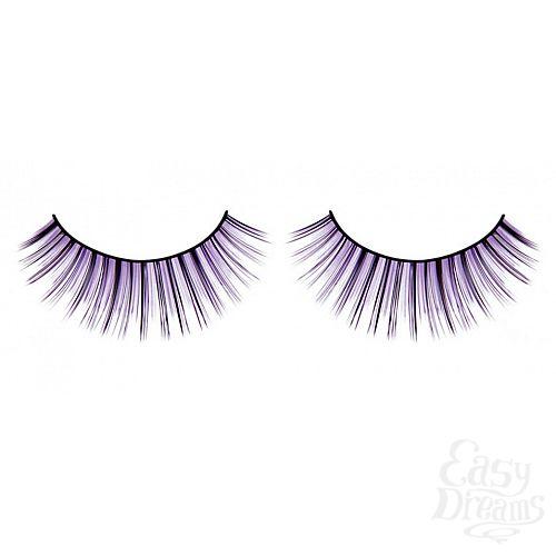 Фотография 1:  Чёрно-фиолетовые пушистые ресницы