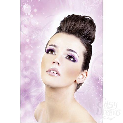 Фотография 2  Чёрно-фиолетовые пушистые ресницы