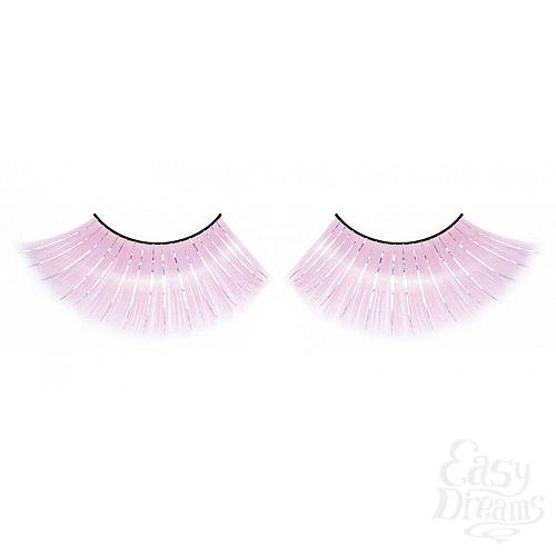 Фотография 1:  Пушистые розовые ресницы