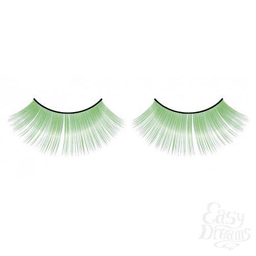 Фотография 1:  Зеленые пушистые ресницы