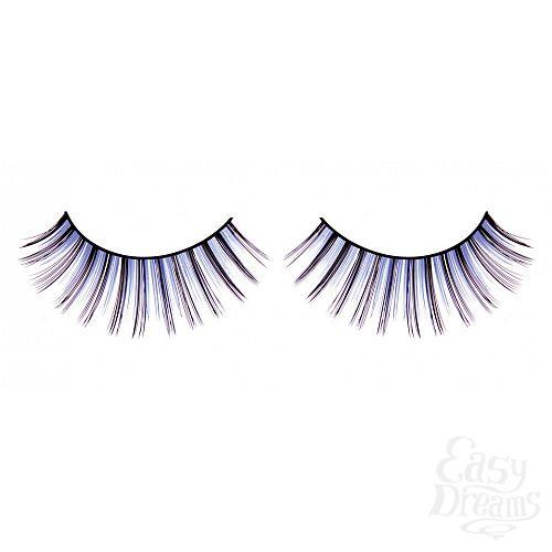 Фотография 1:  Сине-фиолетовые длинные ресницы