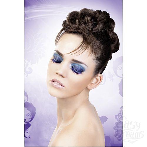 Фотография 2  Сине-фиолетовые длинные ресницы