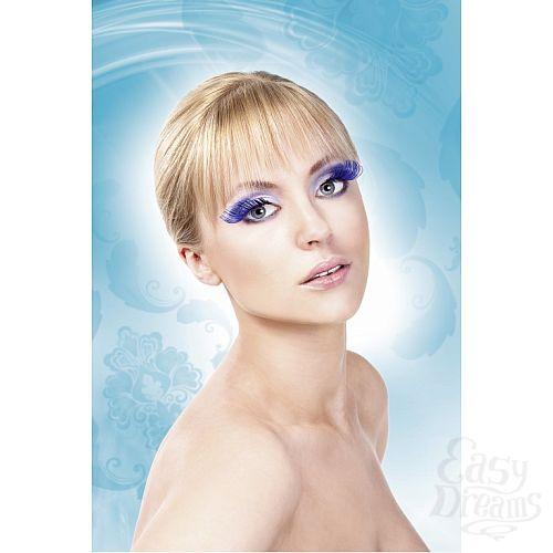 Фотография 2  Светло-синие завитые ресницы-перья