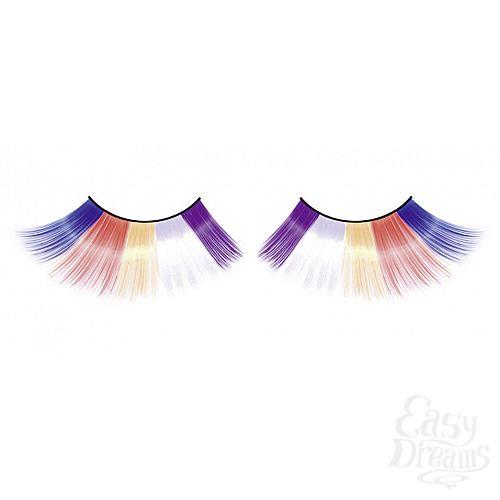 Фотография 1:  Разноцветные длинные ресницы