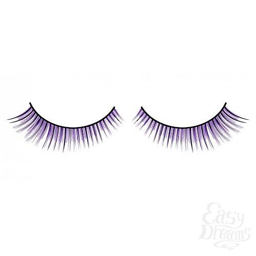 Фотография 1:  Чёрно-фиолетовые ресницы