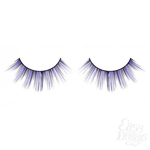 Фотография 1:  Чёрно-фиолетовые ресницы разной длины
