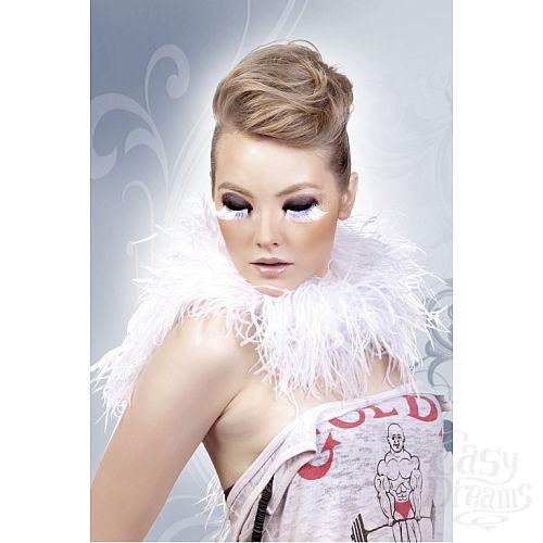 Фотография 2  Бело-серые ресницы-перья