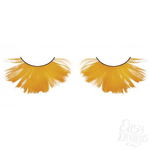 Фотография 1:  Пушистые оранжевые ресницы-перья