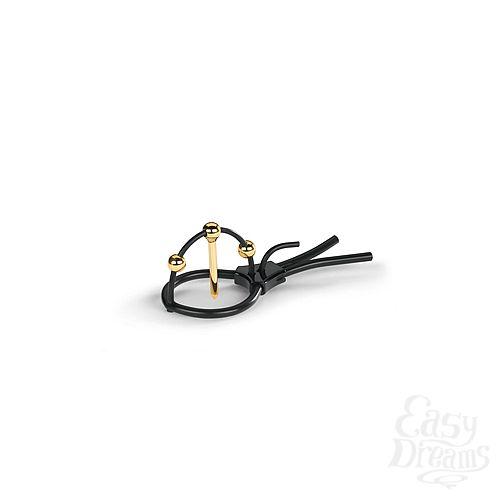 Фотография 2 Mystim Кольцо на головку с электростимуляцией Plunging Pete со стимуляцией уретры черное