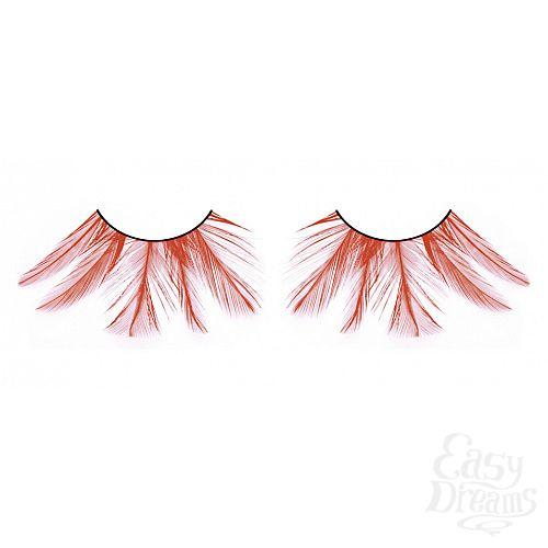 Фотография 1:  Красные ресницы-перья