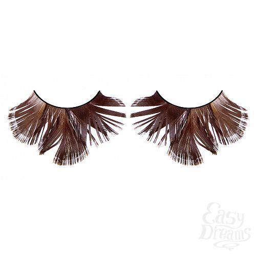 Фотография 1:  Коричневые ресницы-перья