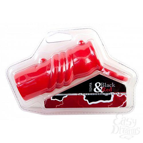 Фотография 1:  Красная силиконовая насадка с кольцом