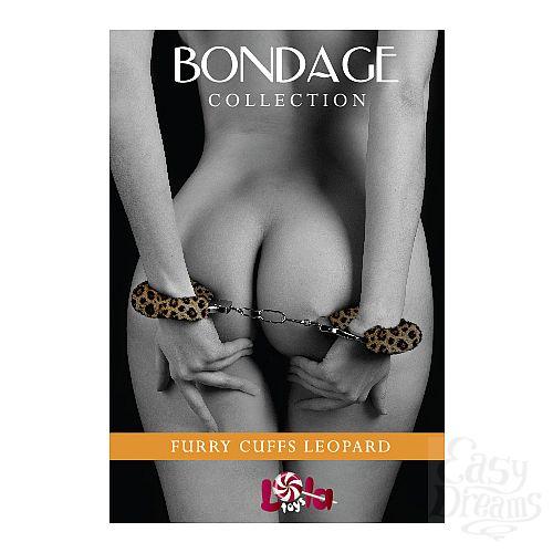 Фотография 1:  Наручники с леопардовым мехом BONDAGE