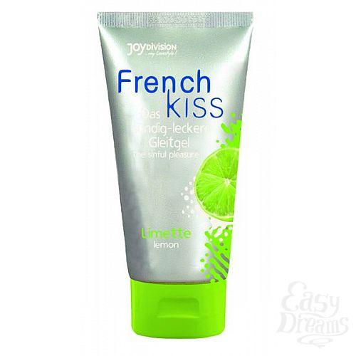 Фотография 1:  Съедобный лубрикант Frenchkiss с ароматом лимона - 75 мл.