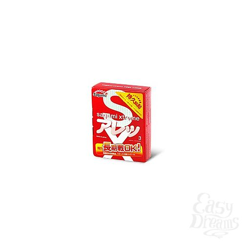 Фотография 1:  Презервативы Sagami Xtreme FEEL LONG (3 шт.)