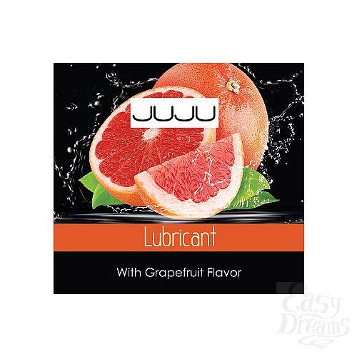Фотография 1:  Пробник съедобного лубриканта JUJU с ароматом грейпфрута - 3 мл.