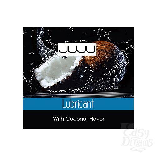 Фотография 1:  Пробник съедобного лубриканта JUJU с ароматом кокоса - 3 мл.