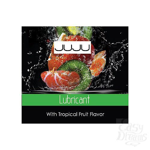 Фотография 1:  Пробник съедобного лубриканта JUJU с ароматом тропический фруктов - 3 мл.