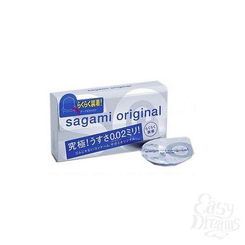 Фотография 1:  Ультратонкие презервативы Sagami Original QUICK - 6 шт.