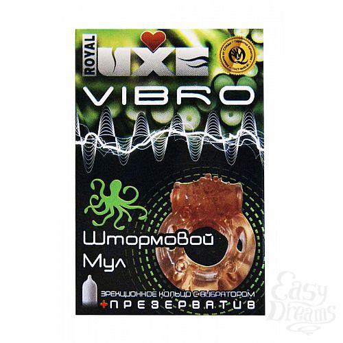 Фотография 1:  Эрекционное виброкольцо Luxe VIBRO  Штормовой Мул