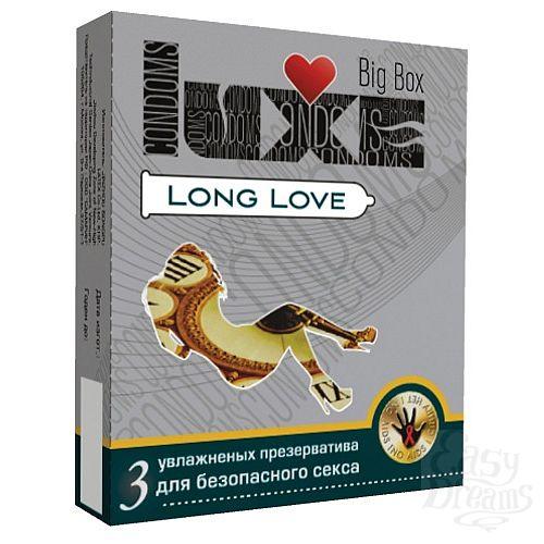 Фотография 1:  Презервативы LUXE Long Love с пролонгирующим эффектом - 3 шт.