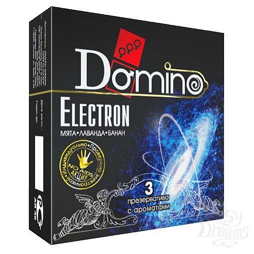 Фотография 1:  Ароматизированные презервативы Domino Electron - 3 шт.