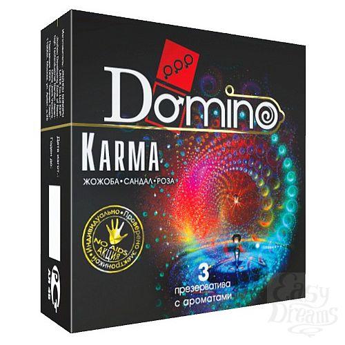 Фотография 1:  Ароматизированные презервативы Domino Karma - 3 шт.
