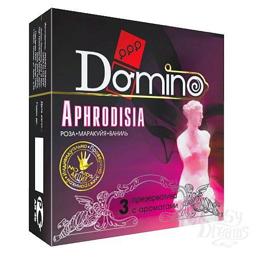 Фотография 1:  Ароматизированные презервативы Domino Aphrodisia - 3 шт.